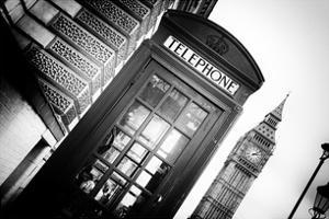 Red Phone Booth in London with the Big Ben - City of London - UK - England - United Kingdom by Philippe Hugonnard