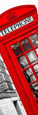 Red Phone Booth in London with the Big Ben - City of London - UK - Photography Door Poster by Philippe Hugonnard