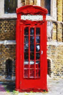 Red Phone Booth - In the Style of Oil Painting by Philippe Hugonnard