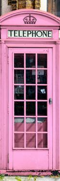 Red Phone Booth painted Pink in London - City of London - UK - England - Photography Door Poster by Philippe Hugonnard