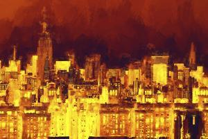 Red Skyline by Philippe Hugonnard