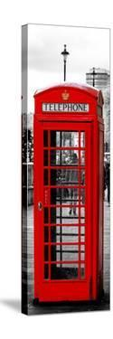 Red Telephone Booths - London - UK - England - United Kingdom - Europe - Door Poster by Philippe Hugonnard