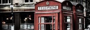 Red Telephone Booths - London - UK - England - United Kingdom - Europe - Panoramic Photography by Philippe Hugonnard