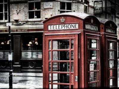 Red Telephone Booths - London - UK - England - United Kingdom - Europe - Vintage Photography by Philippe Hugonnard