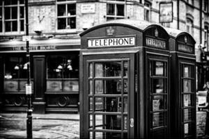 Red Telephone Booths - London - UK - England - United Kingdom - Europe by Philippe Hugonnard