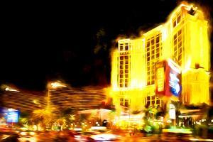 Resort Vegas - In the Style of Oil Painting by Philippe Hugonnard