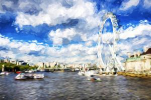 River Thames - In the Style of Oil Painting by Philippe Hugonnard