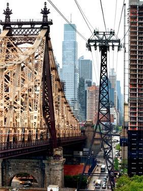 Roosevelt Island Tram and Ed Koch Queensboro Bridge (Queensbridge) Views, Manhattan, New York, US by Philippe Hugonnard