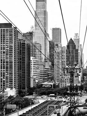Roosevelt Island Tram Station (Manhattan Side), Manhattan, New York, Black and White Photography by Philippe Hugonnard