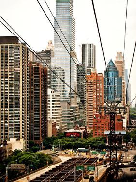 Roosevelt Island Tram Station (Manhattan Side), Manhattan, New York, United States, Vintage by Philippe Hugonnard