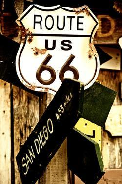 Route 66 - sign - Arizona - United States by Philippe Hugonnard