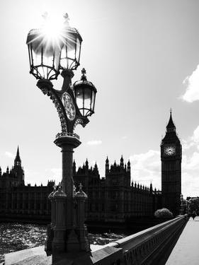 Royal Lamppost UK and Houses of Parliament and Westminster Bridge - Big Ben - London - England by Philippe Hugonnard