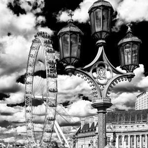 Royal Lamppost UK and London Eye - Millennium Wheel and River Thames - City of London - UK by Philippe Hugonnard