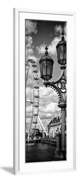 Royal Lamppost UK and London Eye - Millennium Wheel and River Thames - London - UK - Door Poster by Philippe Hugonnard