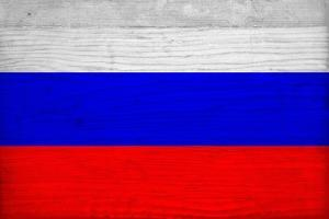 Russia Flag Design with Wood Patterning - Flags of the World Series by Philippe Hugonnard