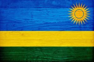 Rwanda Flag Design with Wood Patterning - Flags of the World Series by Philippe Hugonnard