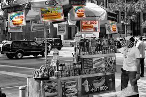 Safari CityPop Collection - NYC Hot Dog with Zebra Man III by Philippe Hugonnard