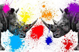 Safari Colors Pop Collection - Rhinos Face to Face III by Philippe Hugonnard
