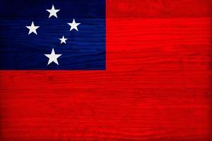 Samoa Flag Design with Wood Patterning - Flags of the World Series by Philippe Hugonnard