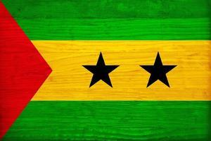 Sao Tome And Principe Flag Design with Wood Patterning - Flags of the World Series by Philippe Hugonnard