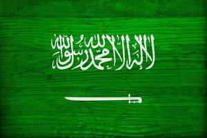 Saudi Arabia Flag Design with Wood Patterning - Flags of the World Series by Philippe Hugonnard