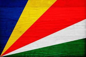 Seychelles Flag Design with Wood Patterning - Flags of the World Series by Philippe Hugonnard