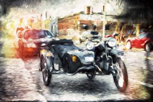 Sidecars - In the Style of Oil Painting by Philippe Hugonnard