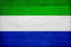 Sierra Leone Flag Design with Wood Patterning - Flags of the World Series by Philippe Hugonnard