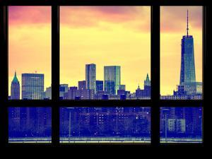 Skyline Manhattan with the One World Trade Center (1WTC) at Sunset - New York, USA by Philippe Hugonnard