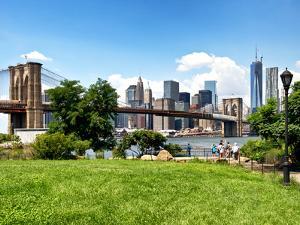 Skyline of Manhattan, Brooklyn Bridge Park, New York City, United States by Philippe Hugonnard