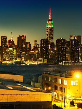 Skyline of the Skyscrapers of Manhattan by Nightfall from Brooklyn by Philippe Hugonnard