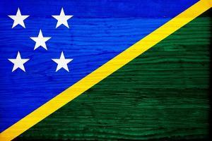 Solomon Islands Flag Design with Wood Patterning - Flags of the World Series by Philippe Hugonnard