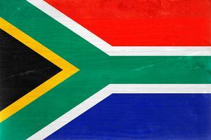 South Africa Flag Design with Wood Patterning - Flags of the World Series by Philippe Hugonnard