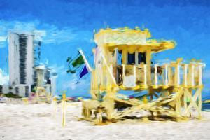 South Beach Miami IV - In the Style of Oil Painting by Philippe Hugonnard