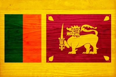 Sri Lanka Flag Design with Wood Patterning - Flags of the World Series by Philippe Hugonnard