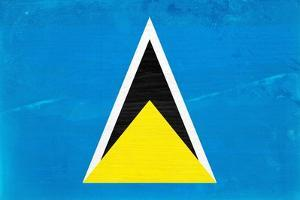 St. Lucia Flag Design with Wood Patterning - Flags of the World Series by Philippe Hugonnard