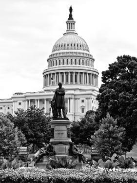 Statue in Memory of James A.Carfield before the Capitol Building, US Congress, Washington D.C by Philippe Hugonnard