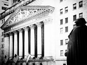Statue of George Washington, New York Stock Exchange Building, Wall Street, Manhattan, NYC by Philippe Hugonnard