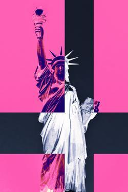 Statue of Liberty - Décorative Art - Pink - New York - United States by Philippe Hugonnard