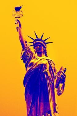 Statue of Liberty - Décorative Art - Yellow Vintage - NYC - United States by Philippe Hugonnard