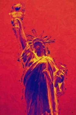 Statue of Liberty II - In the Style of Oil Painting by Philippe Hugonnard