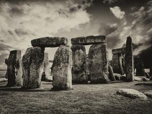 Stonehenge - Abstract of Stones - Wiltshire - UK - England - United Kingdom - Europe by Philippe Hugonnard