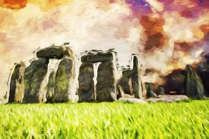 Stonehenge II - In the Style of Oil Painting by Philippe Hugonnard