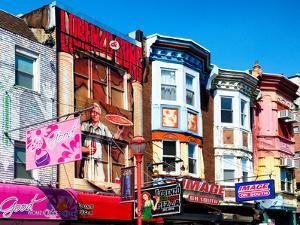 Street Art, Colorful Facades of Buildings, Philadelphia, Pennsylvania, United States by Philippe Hugonnard