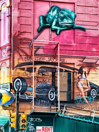 Street Art, Graffiti on the Walls of a Building, Philadelphia, Pennsylvania, United States by Philippe Hugonnard