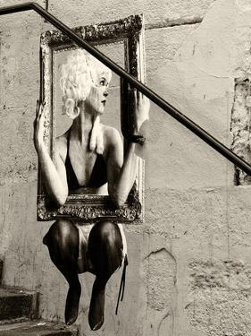 Street Art, Murals Style, French Artist, Paris, France, Sepia by Philippe Hugonnard