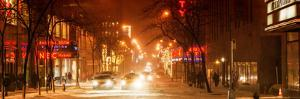 Street Scenes and Urban Night Panoramic Landscape in Winter under the Snow by Philippe Hugonnard