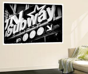 Subway and City Art - Subway Sign by Philippe Hugonnard