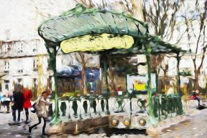 Subway Entrance - In the Style of Oil Painting by Philippe Hugonnard