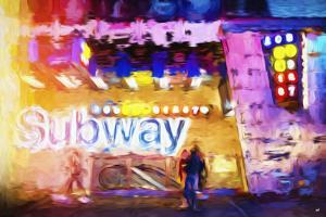Subway - In the Style of Oil Painting by Philippe Hugonnard